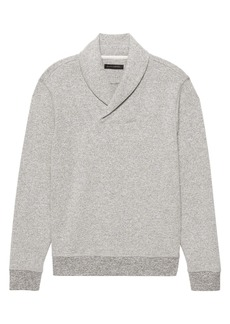Banana Republic Waffle-Knit Shawl Collar Sweatshirt