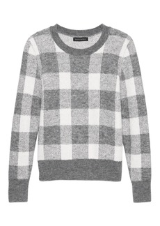 Banana Republic Buffalo Plaid Crew-Neck Sweater