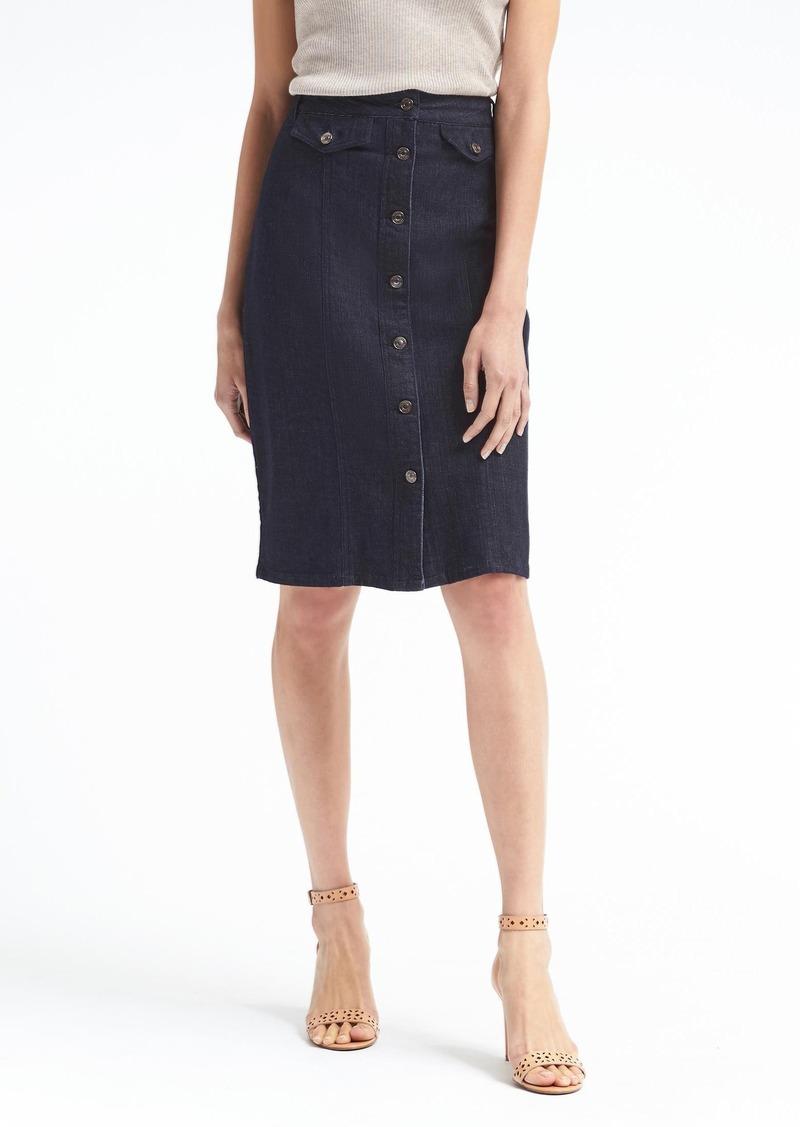 ce4da5e3eb846a Banana Republic Button-Front Denim Pencil Skirt | Skirts