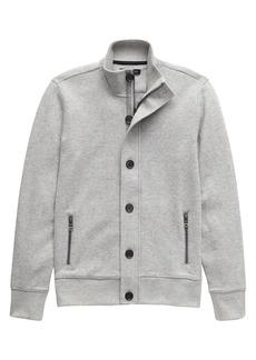 Banana Republic Button-Front Textured Sweatshirt Jacket