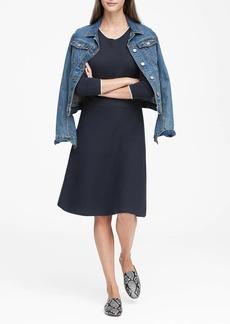 Banana Republic Button-Shoulder Sweater Dress