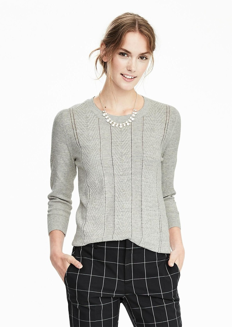 Banana Republic Cable-Knit Crew