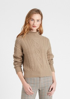 Banana Republic Cable-Knit Cropped Sweater