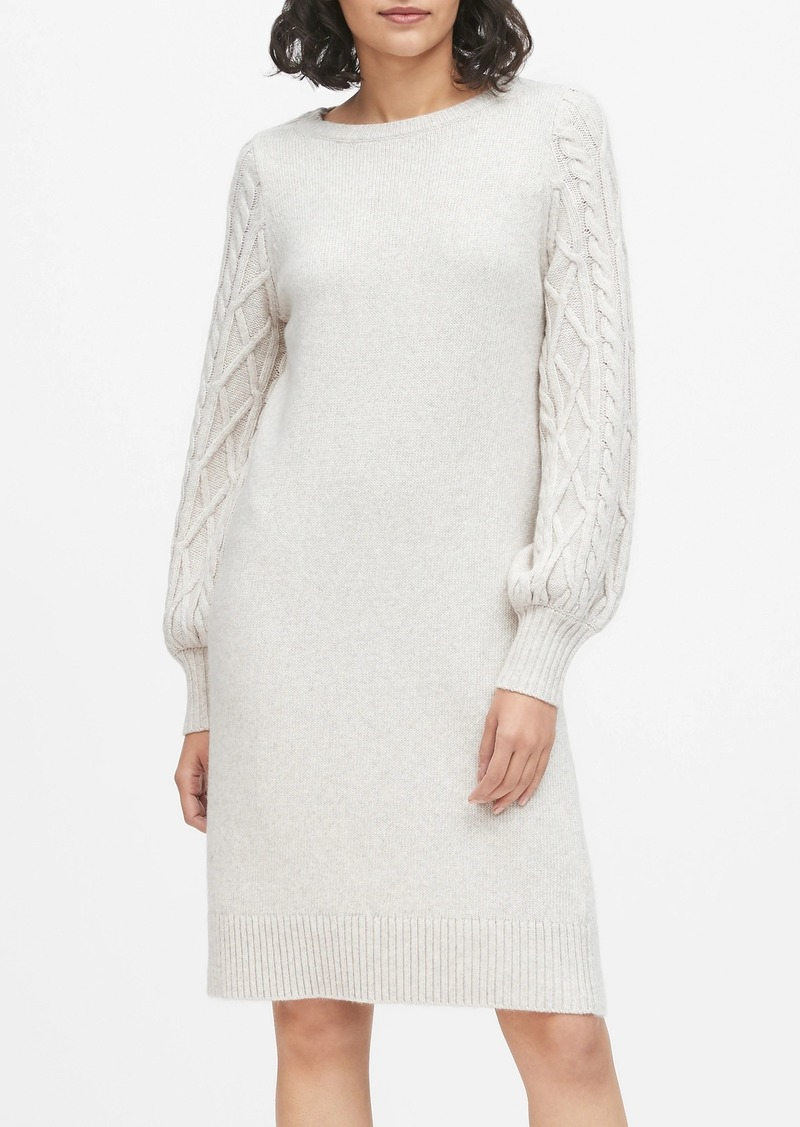 Banana Republic Cable-Knit Sweater Dress