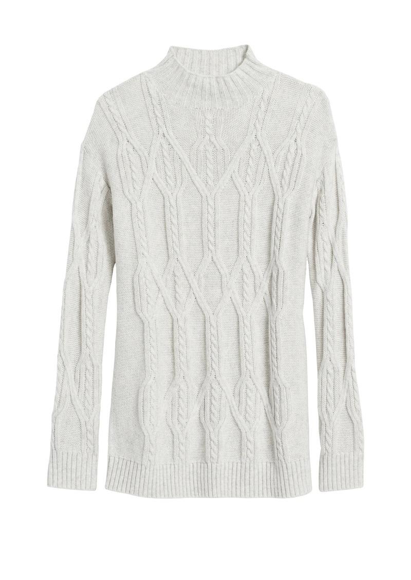 Banana Republic Cable-Knit Tunic Sweater