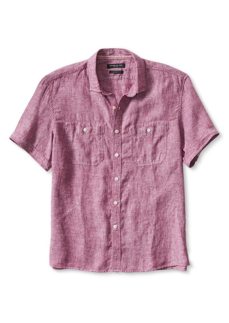 Banana Republic Camden-Fit Linen Short-Sleeve Shirt