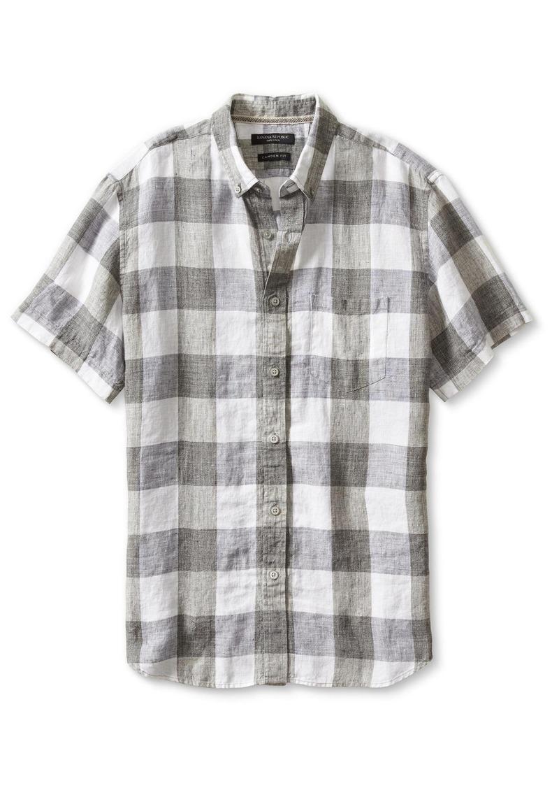 Banana Republic Camden-Fit Linen Short-Sleeve Shirt