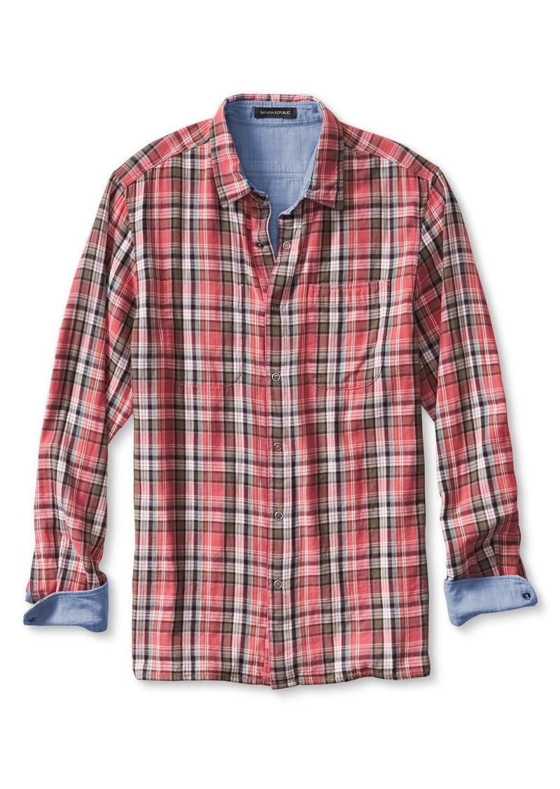 Banana Republic Camden-Fit Reversible Plaid Shirt