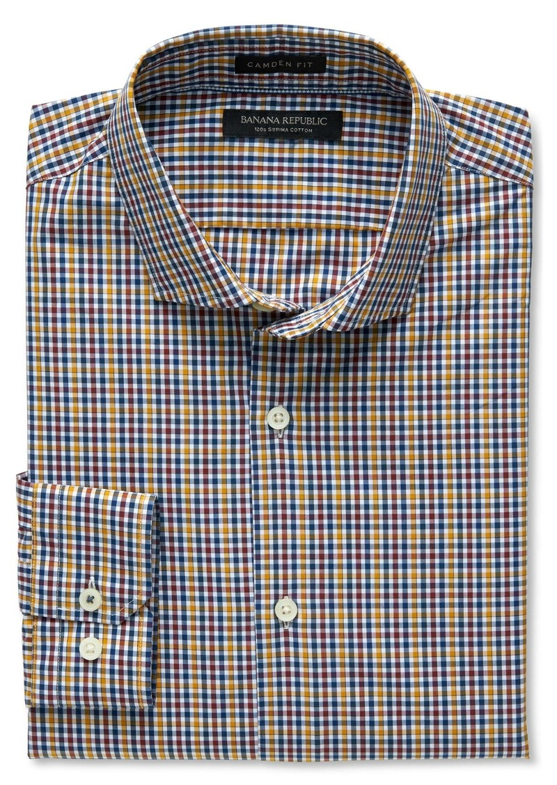 Banana Republic Camden-Fit Supima Cotton Mini Gingham Shirt