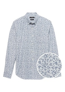 Banana Republic Camden Standard-Fit Cotton Oxford Floral Shirt