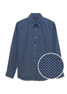 Banana Republic Camden Standard-Fit Dot Chambray Shirt