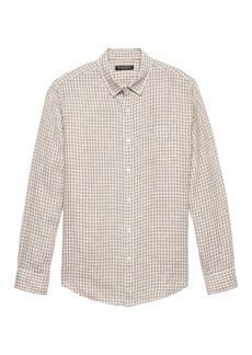Banana Republic Camden Standard-Fit Gingham Linen Shirt