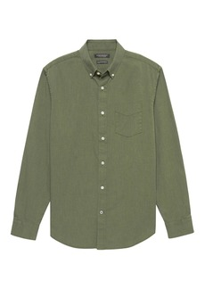 Banana Republic Camden Standard-Fit Heathered Oxford Shirt