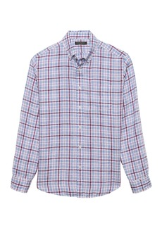 Banana Republic Camden Standard-Fit Linen Gingham Shirt
