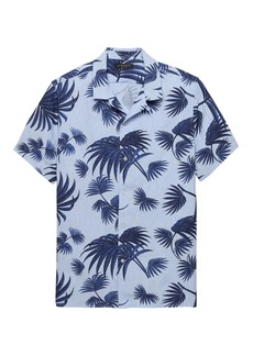 Banana Republic Camden Standard-Fit Linen Palm Print Camp Shirt
