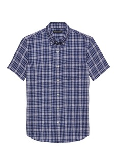 Banana Republic Camden Standard-Fit Linen Plaid Shirt