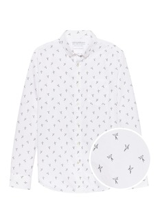 Banana Republic Camden Standard-Fit Luxe Poplin Bird Print Shirt