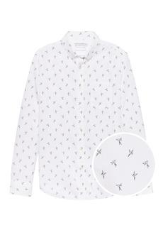 Banana Republic Camden Standard-Fit Luxe Poplin Bird Print Shirt