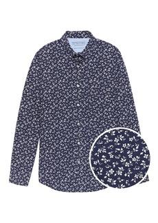 Banana Republic Camden Standard-Fit Luxe Poplin Floral Shirt
