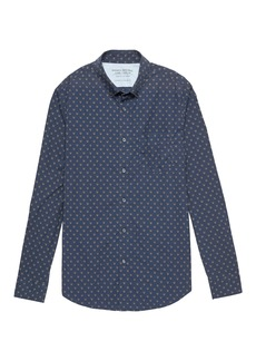 Banana Republic Camden Standard-Fit Luxe Poplin Fox Print Shirt