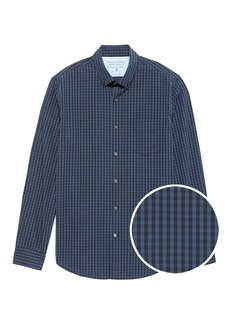 Banana Republic Camden Standard-Fit Luxe Poplin Grid Shirt