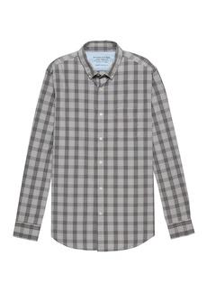 Banana Republic Camden Standard-Fit Luxe Poplin Plaid Shirt