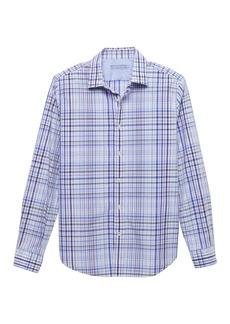 Banana Republic Camden Standard-Fit Luxe Poplin Plaid Shirt
