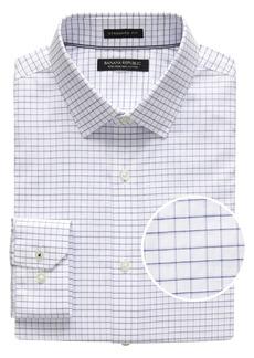 Banana Republic Camden Standard-Fit Non-Iron Mini Grid Dress Shirt