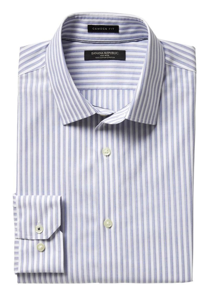 f63000107f Banana Republic Camden Standard-Fit Non-Iron Stretch Stripe Shirt ...