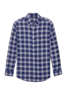 Banana Republic Camden Standard-Fit Plaid Linen Shirt
