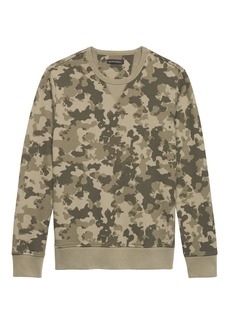 Banana Republic Camo French Terry Crew-Neck Sweatshirt