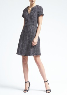 Cap Sleeve Vee Neck Dress
