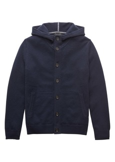 Banana Republic Cashmere Button Front Hoodie