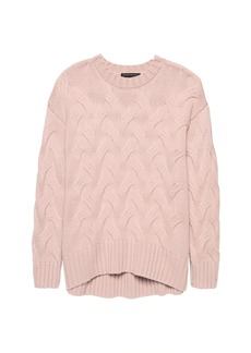 Banana Republic Cashmere Oversized Cable-Knit Sweater