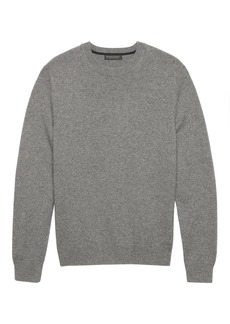 Banana Republic Cashmere Crew-Neck Sweater with Suede Elbow Patches