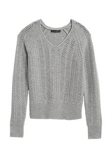 Banana Republic Cashmere Pointelle Sweater
