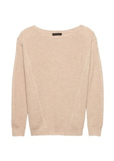 Banana Republic Cashmere Ribbed Boat-Neck Sweater