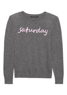 Banana Republic Cashmere Saturday Crew-Neck Sweater