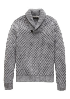 Banana Republic Cashmere Textured Shawl-Collar Sweater