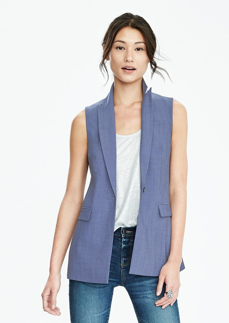 Banana Republic Chambray Lightweight Wool Vest