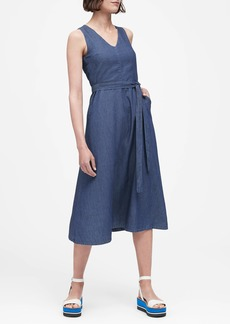 Banana Republic Chambray Midi Dress