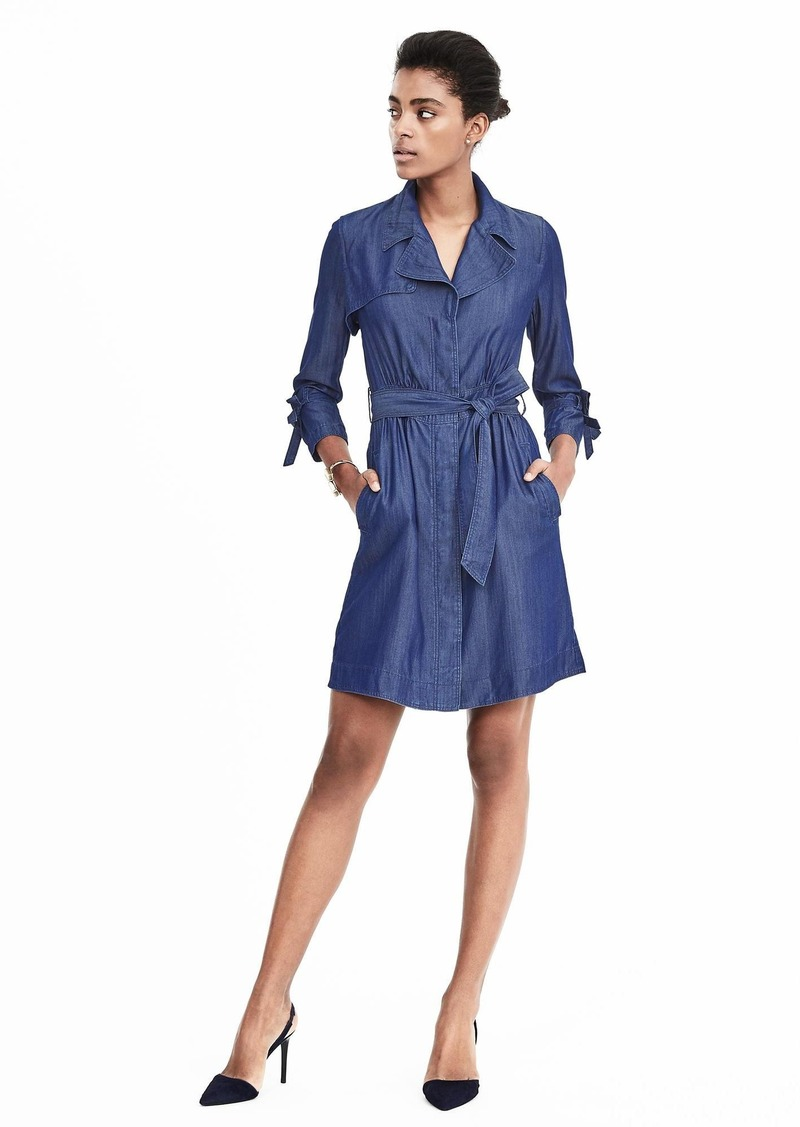 Banana Republic Chambray Trench Dress