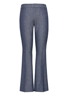 Banana Republic Chambray Twill Crop Flare Pant