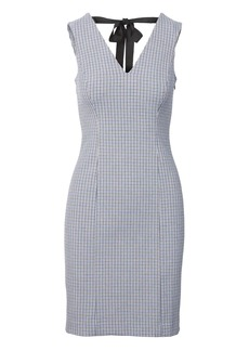 Banana Republic Check Tie-Back Sheath Dress