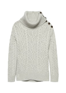 Banana Republic Chunky Cable-Knit Turtleneck Sweater