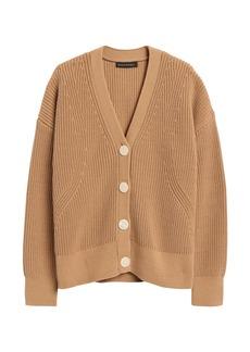 Banana Republic Chunky Ribbed Cardigan Sweater