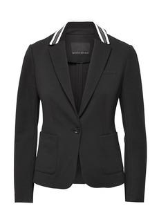 Banana Republic Classic-Fit Ponte Contrast-Collar Blazer
