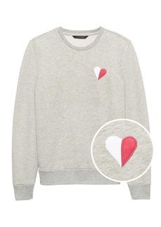 Banana Republic Classic Fleece Heart Sweatshirt