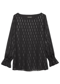 Banana Republic Clip-Dot Poet-Sleeve Top
