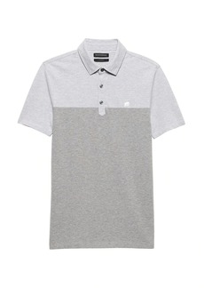 Banana Republic Color-Blocked Pique Polo